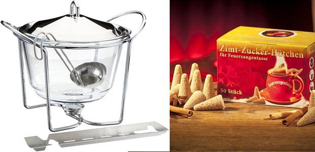 APS Feuerzangenbowle Hot Pot Set und Feuerzangentasse Zimt-Zucker-Hütchen