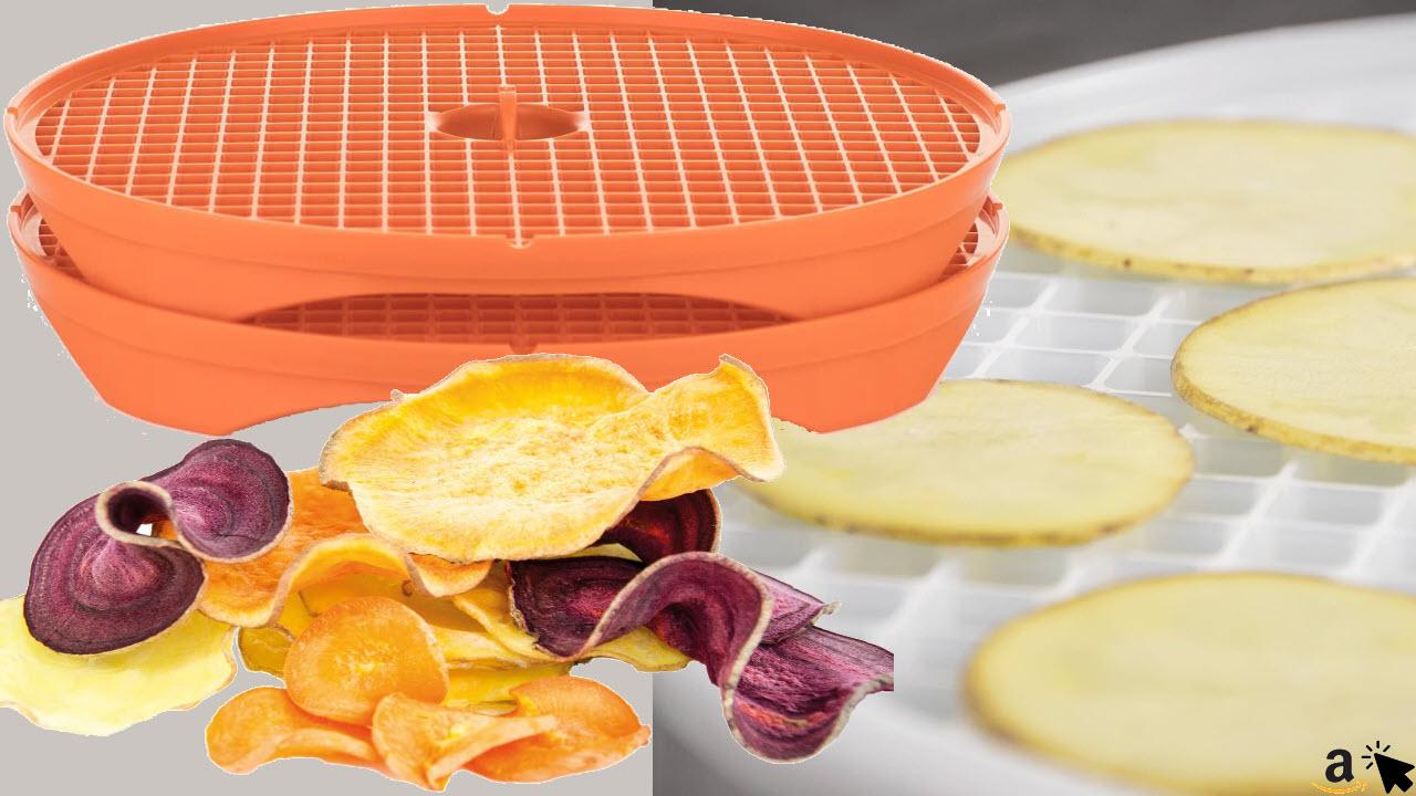 Börner Crispymaker, fettfreie vegane Chips, Gemüsechips, Kartoffelchips, Karottenchips, Apfelchips, Chips-Maker für die Mikrowelle