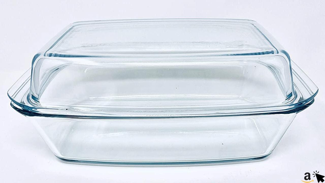 Bohemia Cristal Glas Bräter mit Glasdeckel