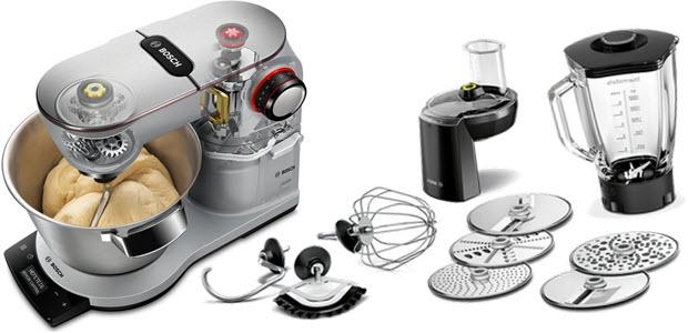 Bosch MUM9AX5S Optimum Küchenmaschine 1500W mit Waage, Teig-Sensor und Timer