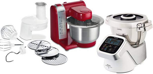 Bosch Multifuktions-Küchenmaschine - Krups Küchenmaschine mit Kochfunktion