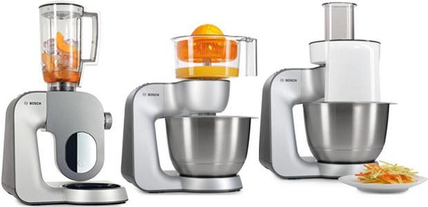 Bosch Styline Küchenmaschine mit Stand-Mixer Zitruspresse Schnitzelwerk