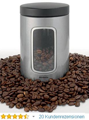 Brabantia Fensterdose Kaffeedose luftdicht