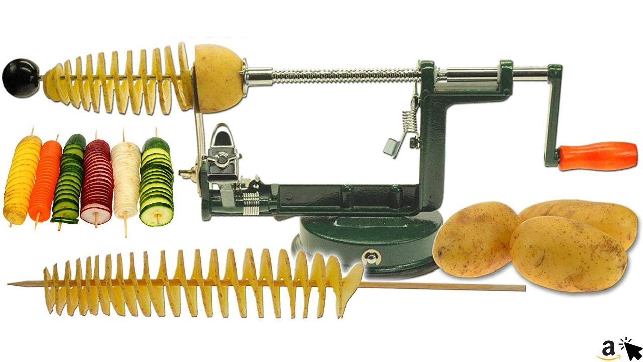 CORVUS Chipsmaschine Gemüse-Spiralschneider Chips-Spiralen