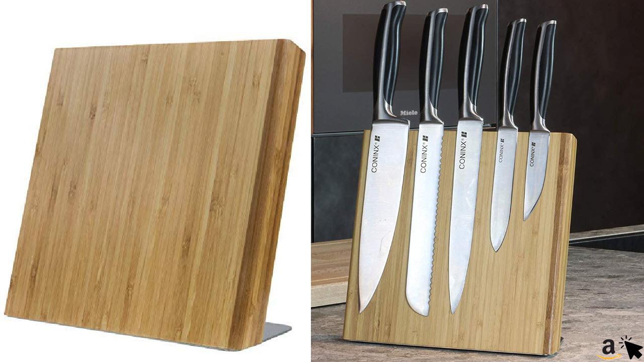 Coninx Quin Magnetischer Holz Messerblock ohne Messer