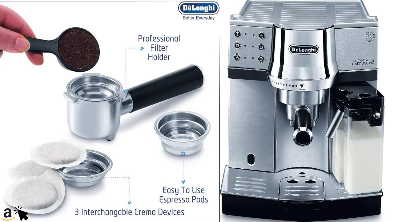 DeLonghi EC 850M Espressomaschine Siebträger oder Pads IFD Milchschaumsystem, 15 Bar