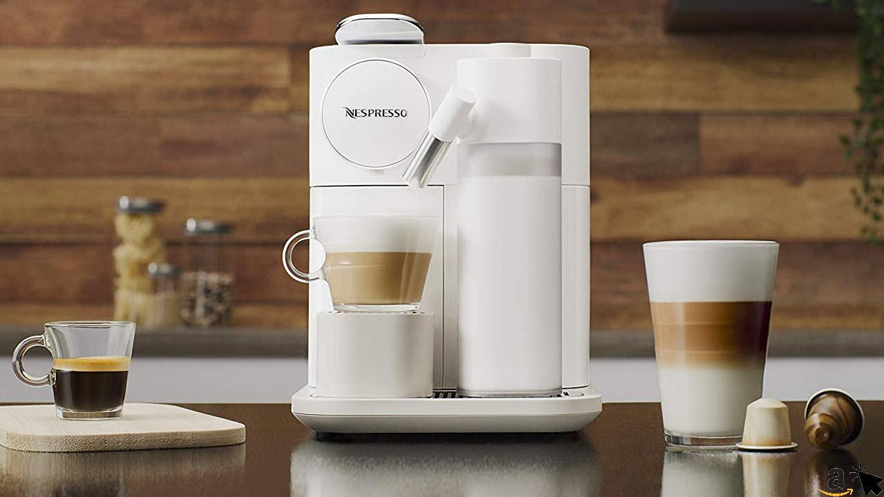 De'Longhi Nespresso Gran Lattissima EN650W Kapselmaschine, Kaffeemaschine mit Milchaufschäumer, mit 6 einfachen Kaffee-Milchgetränke Tasten