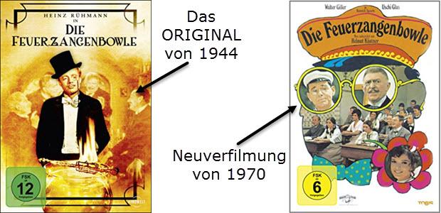 Die Feuerzangenbowle Film 1944 und 1970