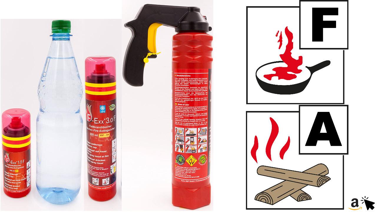F-Exx Fett- und Festbrand-Feuerlöscher für die Küche und Zuhause