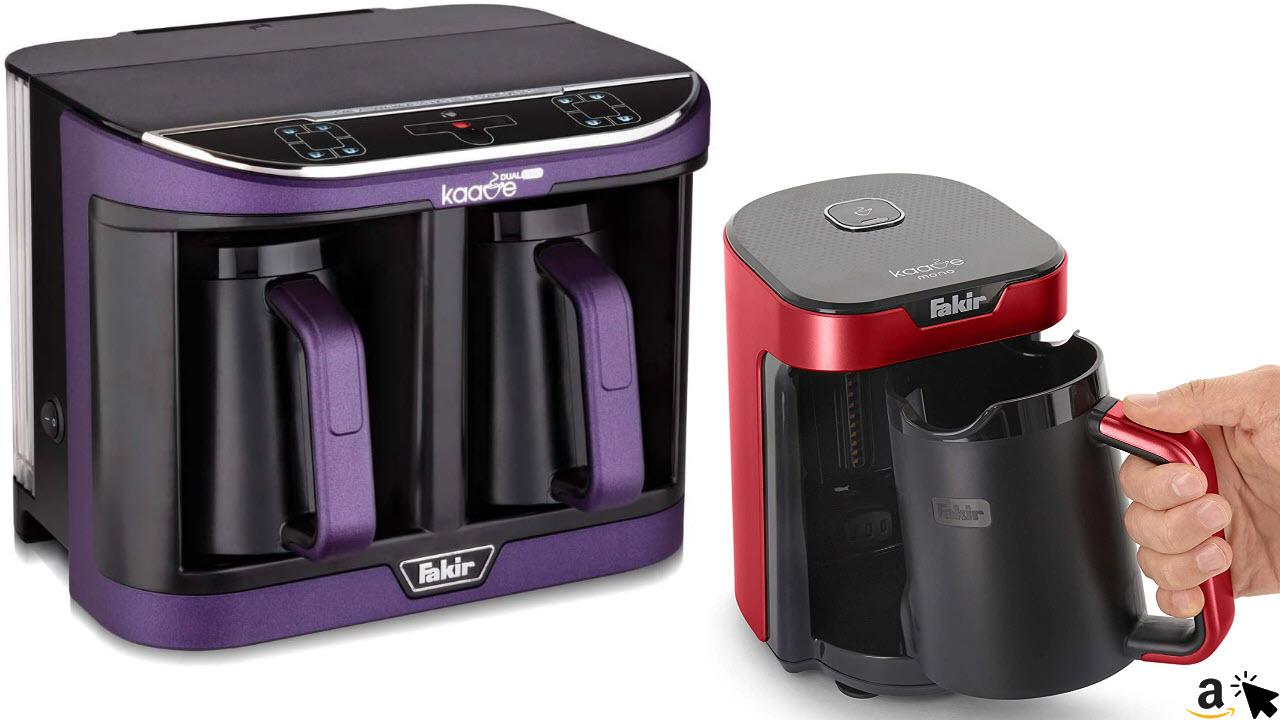 Fakir Kaave Mono Mokkamaschine Kaffeekocher elektrisch, & Fakir Kaave Dual-Pro doppel Türkische Mokka Kaffeebereiter mit 2,3 Liter Wassertank