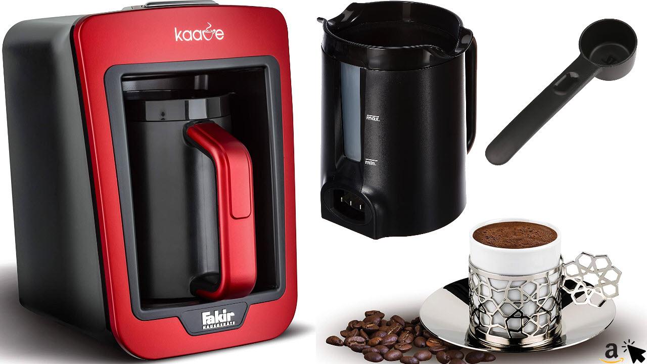 Fakir Kaave - Türkische Mokka-Kaffeemaschine elektrisch, mit 4 Tassen Fassungsvermögen, Einfaches One-Touch-Control-System, Überkochschutz, 7 Farben