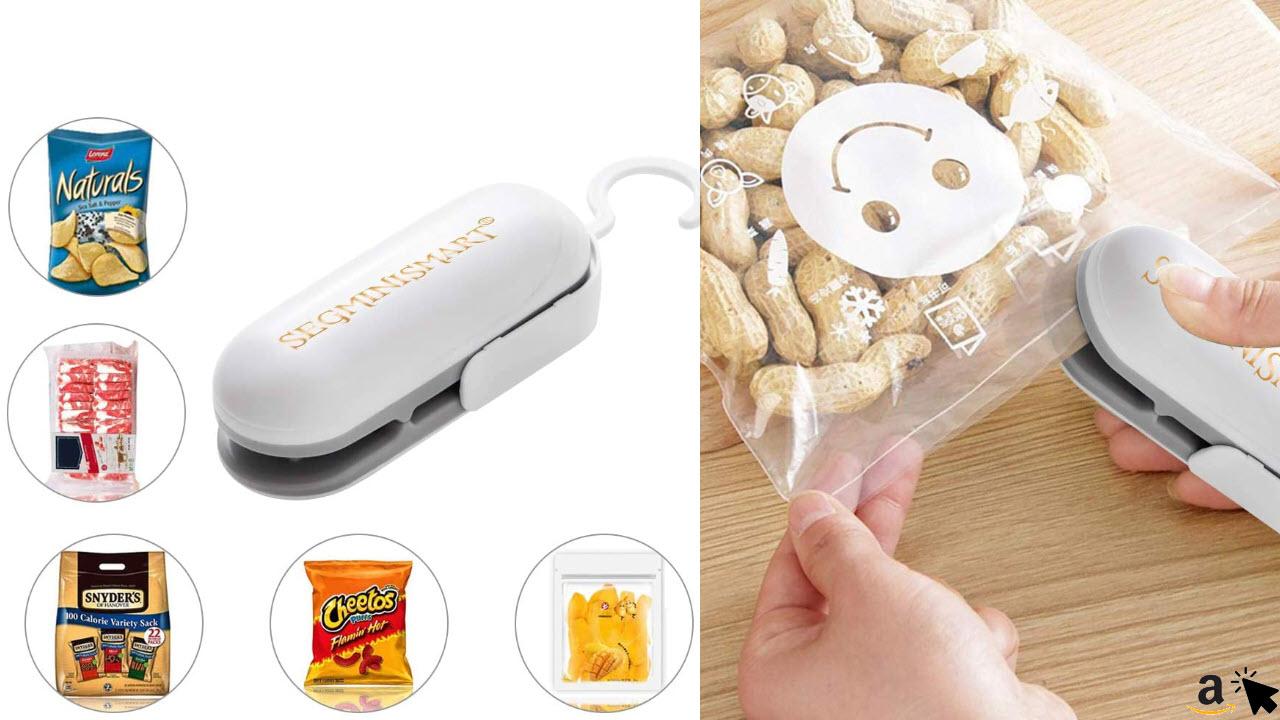 Folienschweißgerät, Mini Bag Sealer, Hand-Folienschweißgerät, Mini Folienschweißgerät Handlicher Tüten Verschweißer