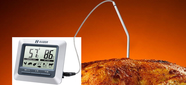 Habor Digitales Grill & Bratenthermometer mit Sonde