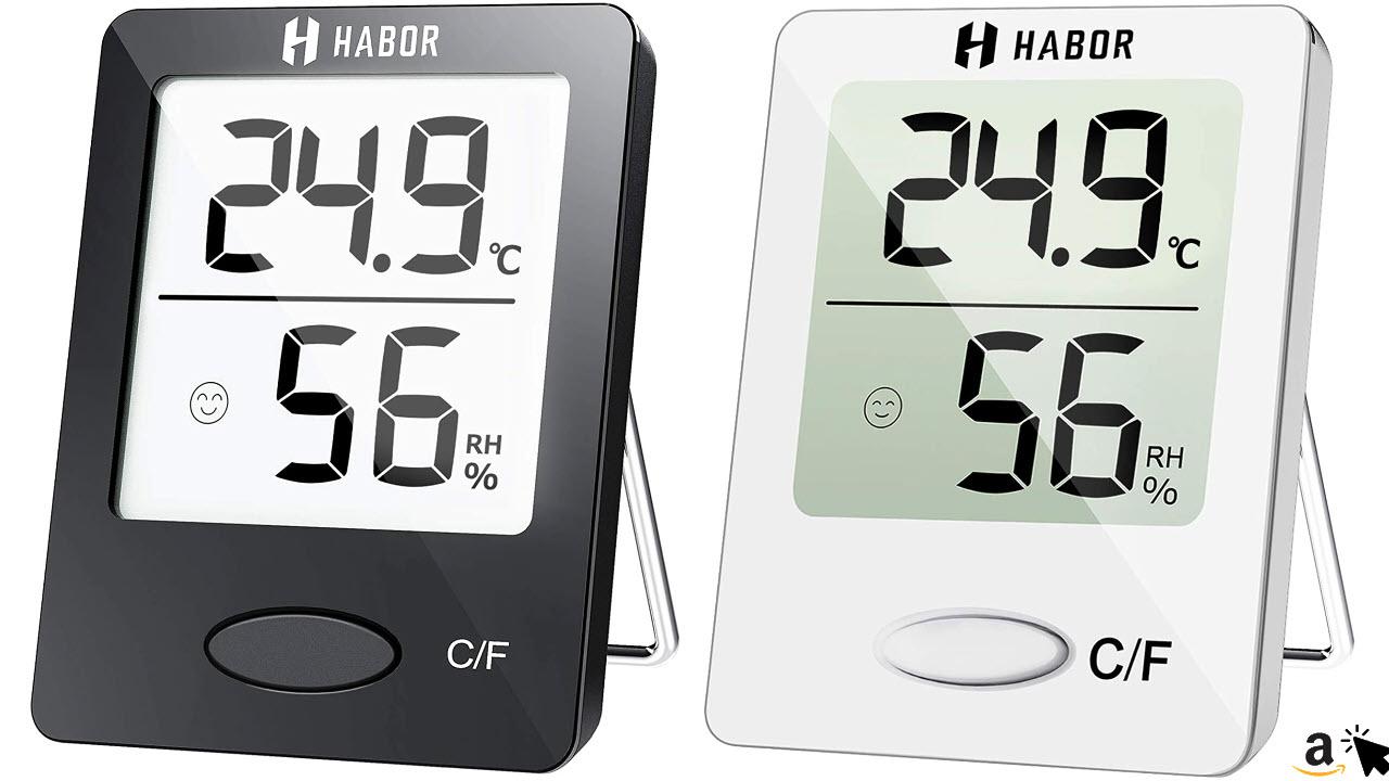 Habor Digitales Thermo-Hygrometer, Luftfeuchtigkeitsmessgerät Innen