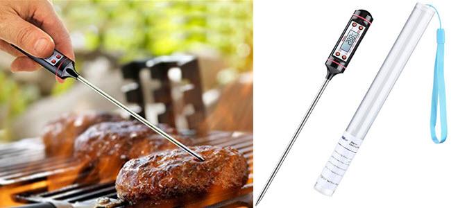 Habor Haushaltsthermometer Kochthermometer Küchenthermometer Einstichthermometer