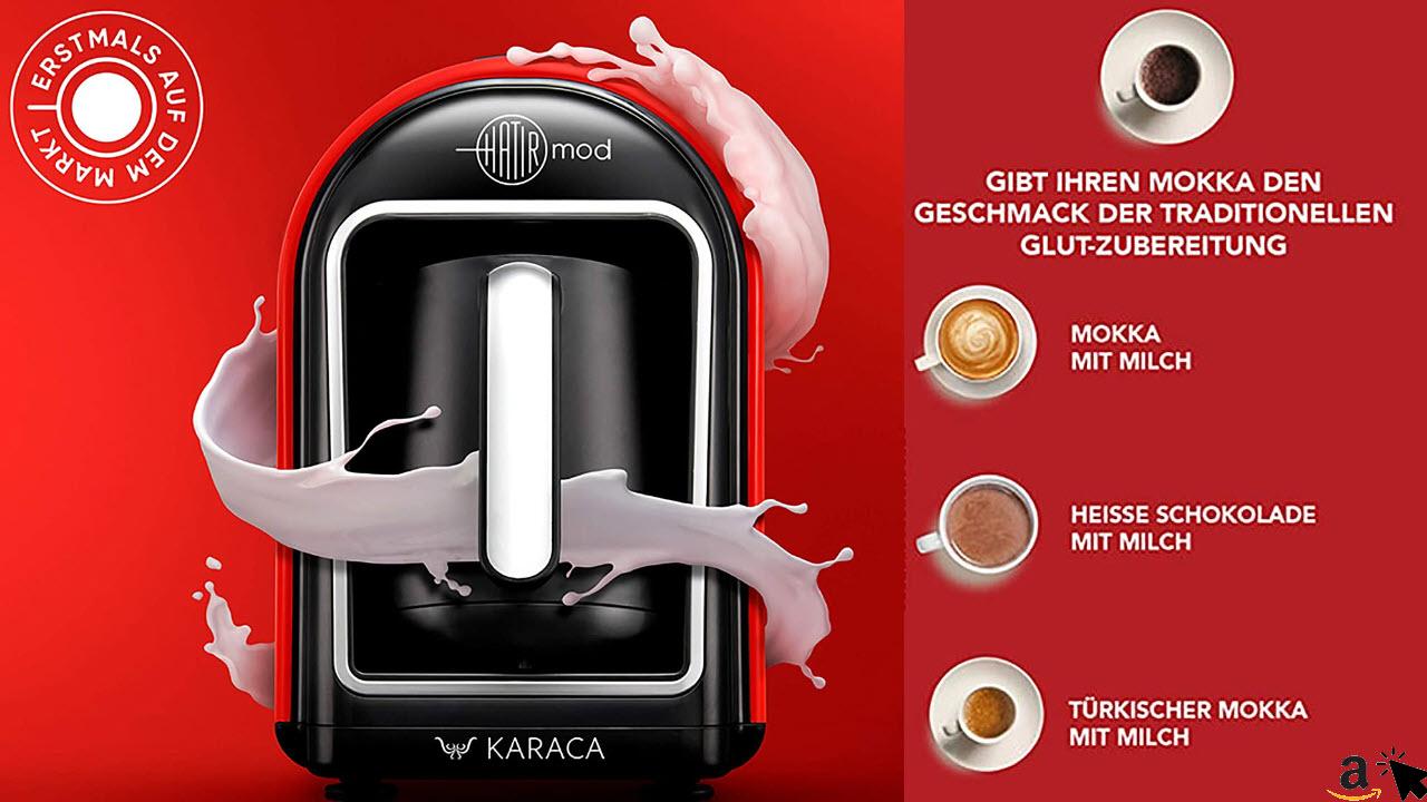 Karaca Hatır Mod Türkische Mokka Kaffeemaschine, Kaffeevollautomat, Türkischer Mokka mit Milch, Kahve Makinesi