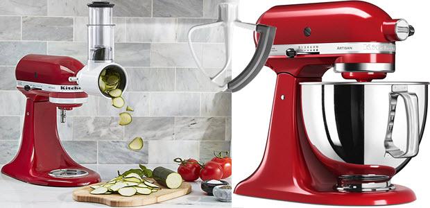Kitchenaid Retro-Küchenmaschine und Aufsatz-Zubehör