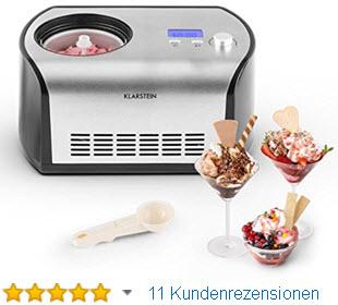 Klarstein Eismaschine Snowberry & Choc Speiseeis-Eiscrememaschine