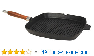 Krüger Gusseisen-Steakpfanne Grillpfanne