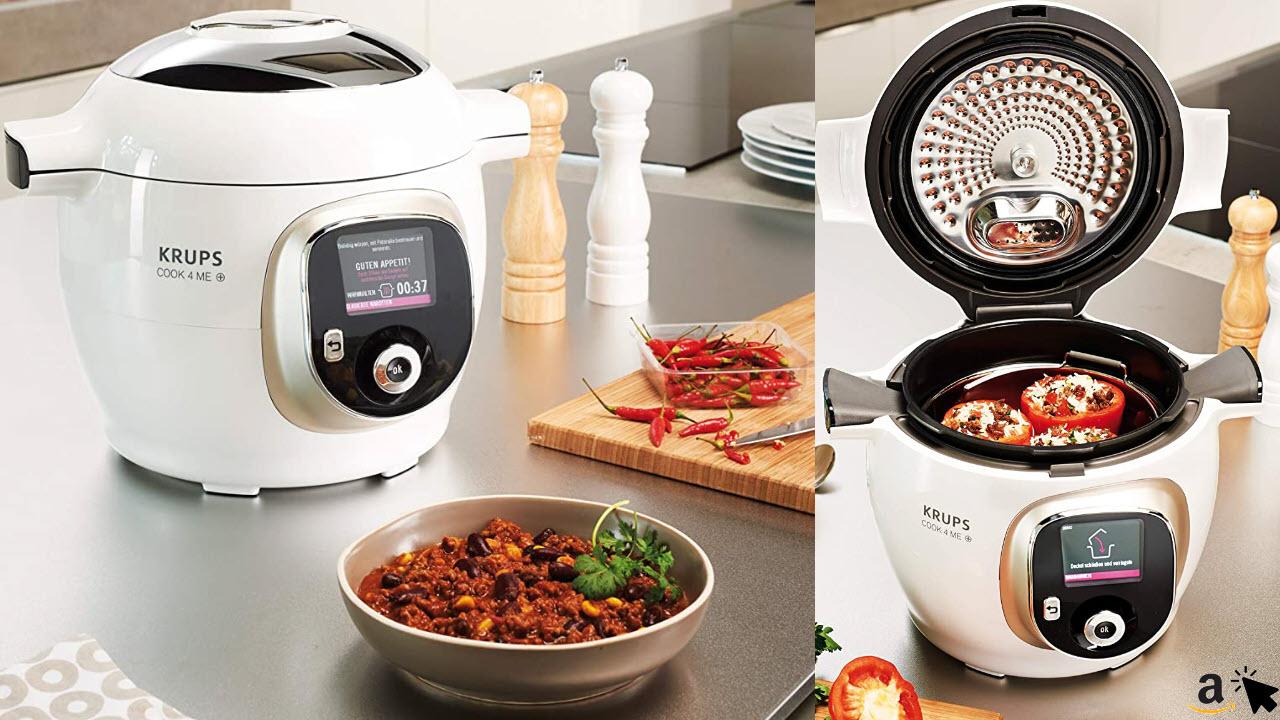 Krups Cook4Me Multikocher elektrischer Schnellkochtopf, 1600 W, 6 L