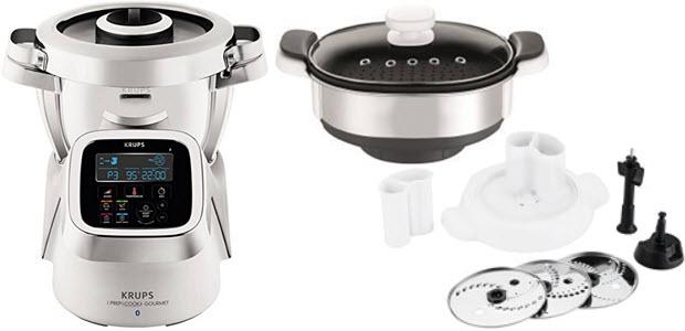 Krups Prep&Cook Küchenmaschine mit Kochfunktion Dampfgarer und Schnitzelwerk