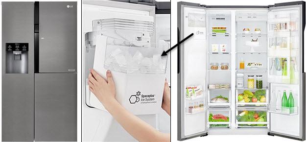 LG Side by Side Kühl-Gefrier-Kombination mit Eiswürfelspender