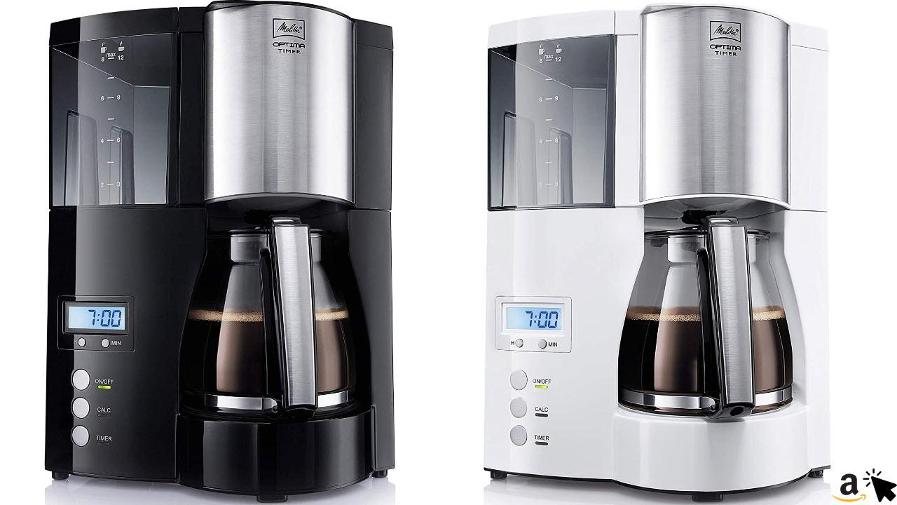 Melitta Optima Timer 100801 Filter-Kaffeemaschine mit Timer Funktion schwarz oder weiß