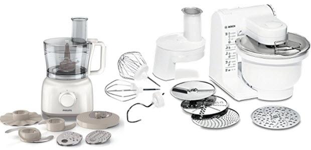 Multifunktions-Küchenmaschine von Philips HR7627 und Bosch MUM4427