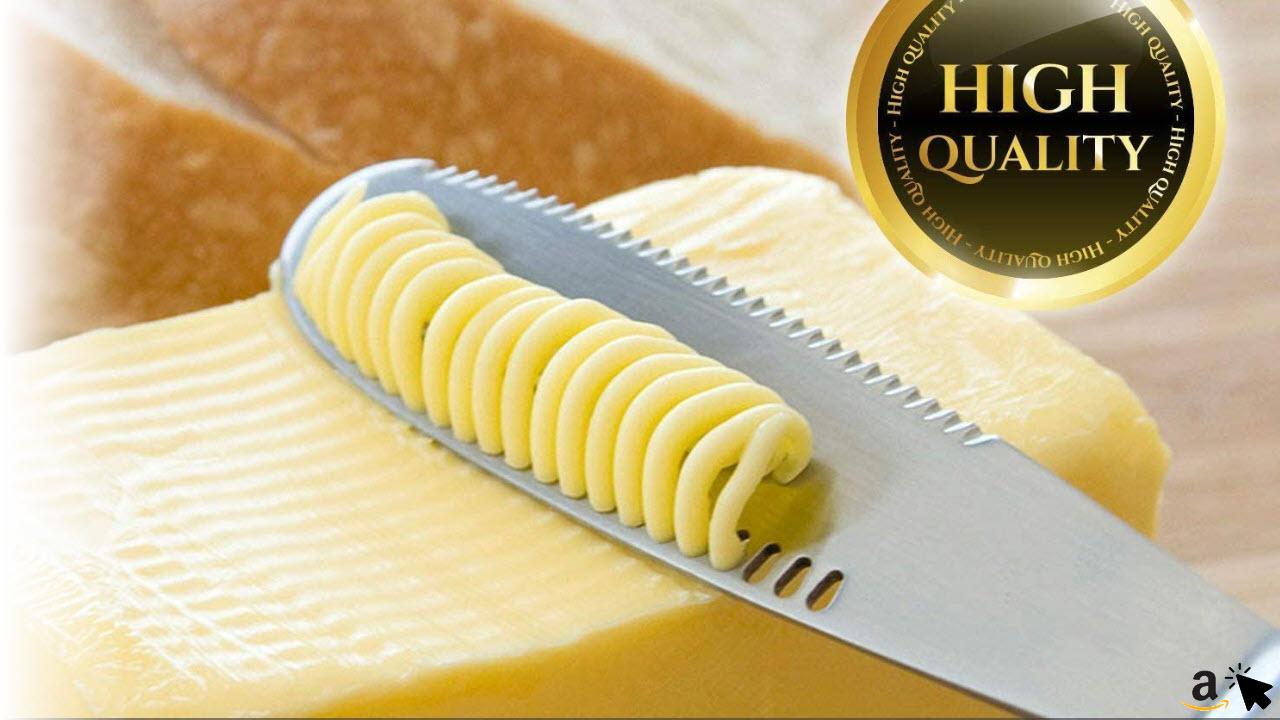OurLeeme Buttermesser Edelstahl Butterstreuer Messer