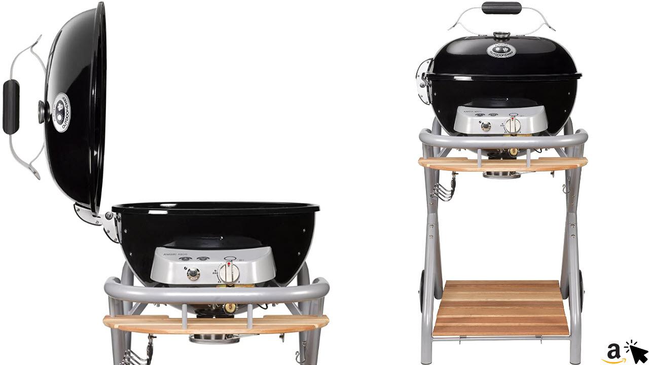 Outdoorchef Gasgrill Ambri 480 G – Kugelgrill mit Trichtersystem und Fettauffangbehälter – Gas grill für Balkon und Terrasse – Steak Grill Ø 48 cm mit 5,4 kW