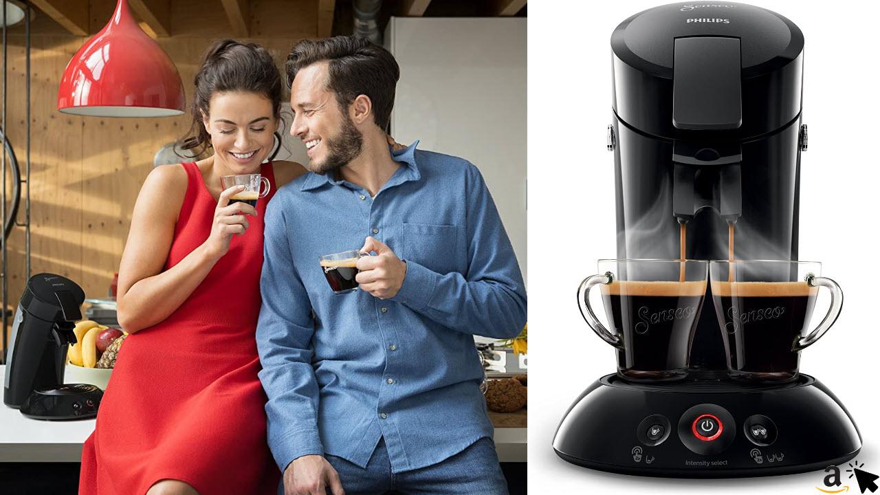 Philips HD6554-68 Senseo Espresso-Kaffeepadmaschine, schwarz