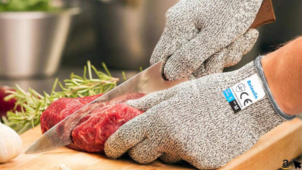 Reinalin Schnittschutzhandschuhe mit High Performance Level 5 Schutz, Lebensmittelsicherheit, Arbeitshandschuhe für die Küche, Mandolinenschneiden