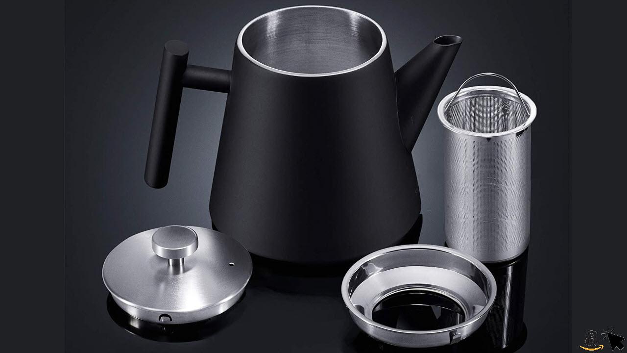 SILBERTHAL Teekanne mit Siebeinsatz 1l - Edelstahl Doppelwandig