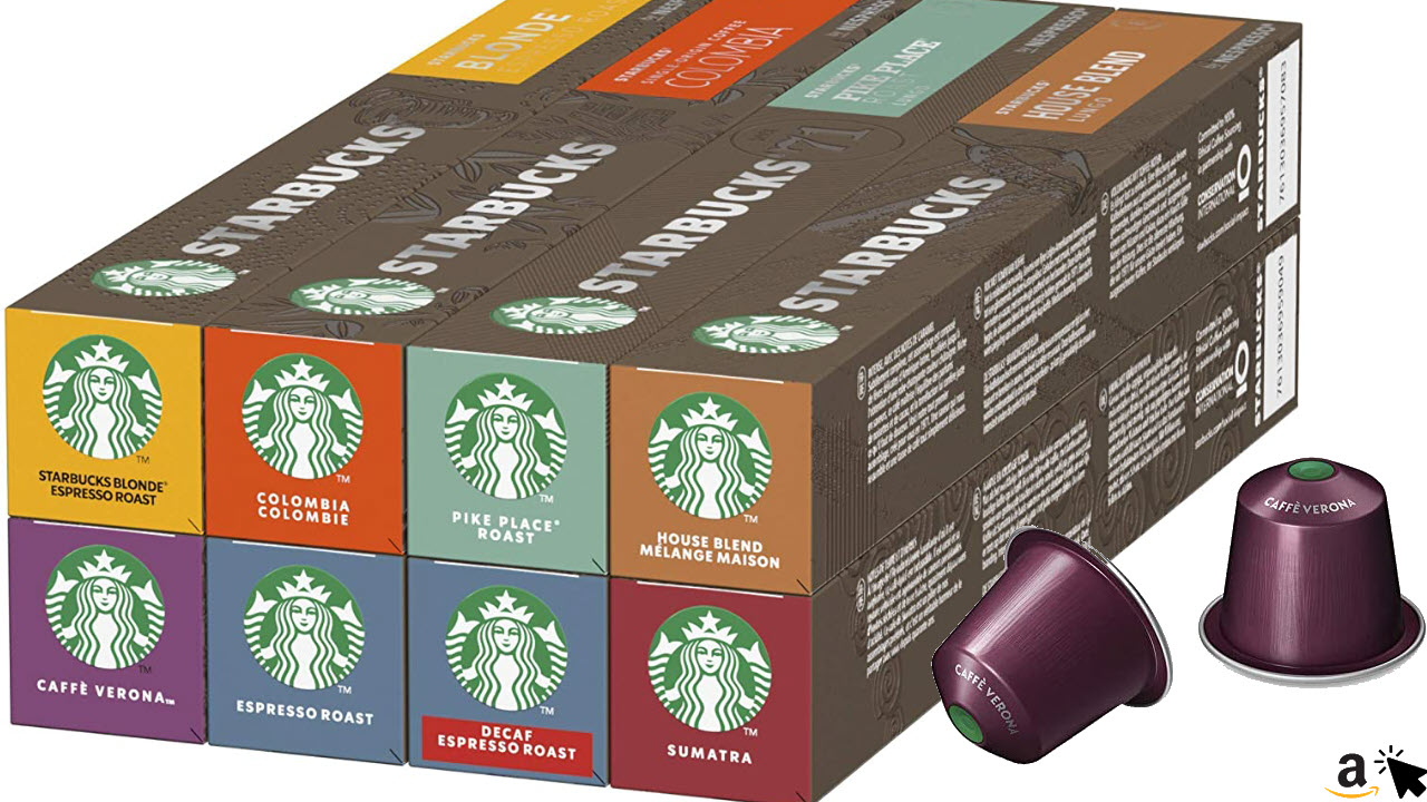 STARBUCKS Variety Nespresso Kaffeekapseln Probierpaket, 80 Kapseln