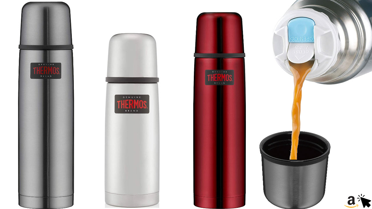 THERMOS Light & Compact Thermosflasche, Edelstahl