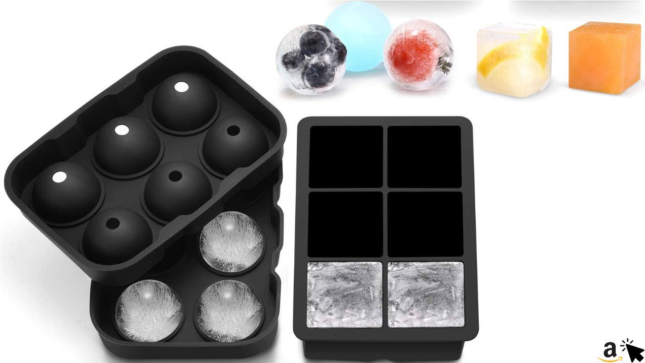 TOPELEK Eiswürfelform Silikon für Eiswürfel und Eiskugeln
