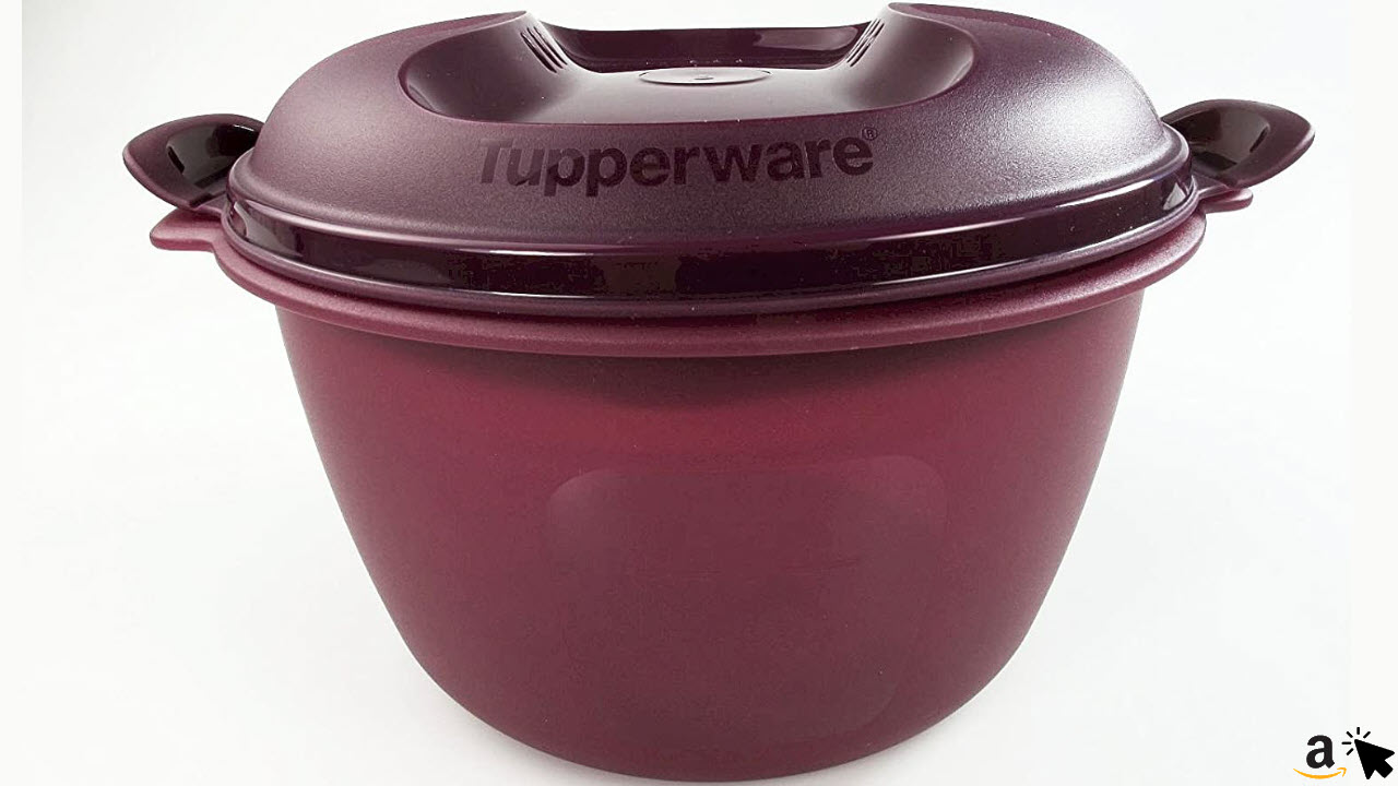 TUPPERWARE Mikrowelle Reis-Meister 3,0 L lila großer Reiskocher