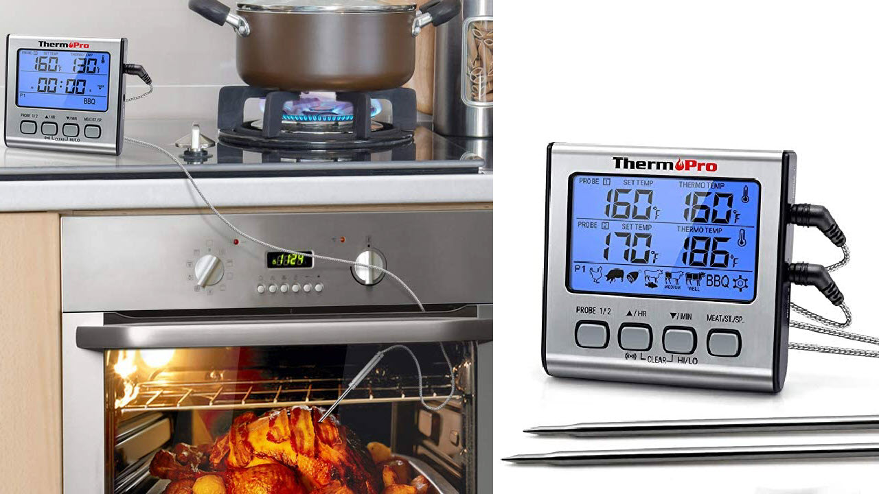 ThermoPro TP17 Digitales Grill-Thermometer Bratenthermometer bis 300 Grad