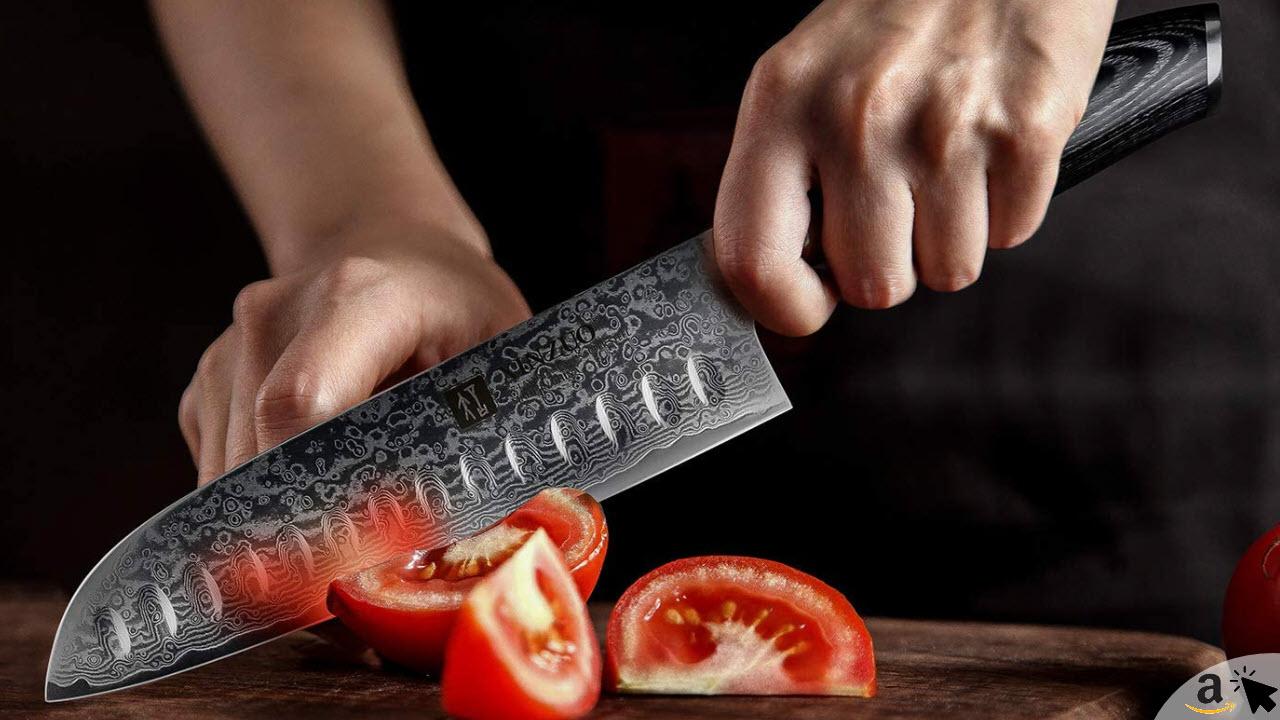 XINZUO 5er Damastmesser Set küchenmesser 67 Schichten Damaststahl Kochmesserset mit Pakka HolzGriff