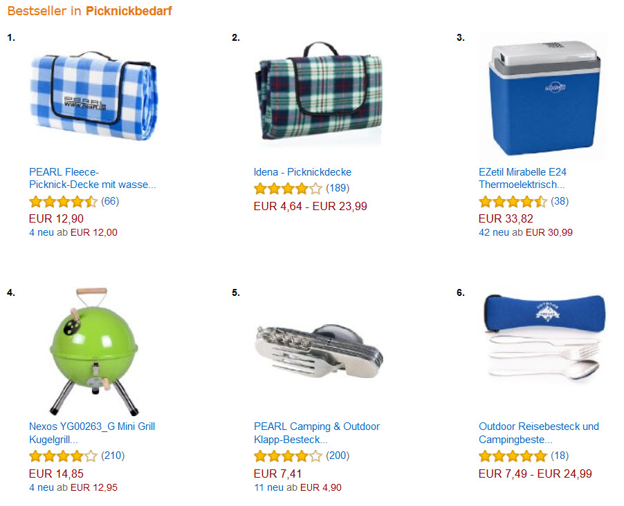 Camping & Picknick Bestseller