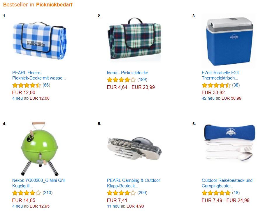 Camping & Picknick Bestseller