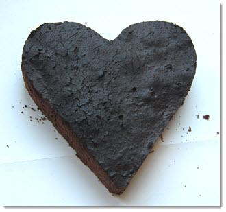 Herz Brownie zum Valentinstag backen