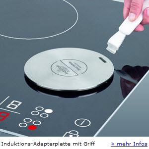 Tescoma Induktions Adapetrplatte für Induktionskochfelder und Kochplatten