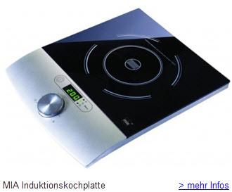Mia Induktionskochplatte einzell Kochfeld