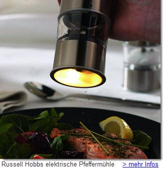 Russel Hobbs elektrische Pfeffermühle mit Keramikmahlwerk