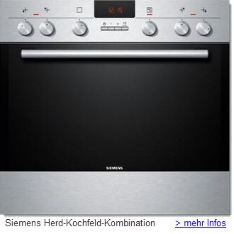 Siemens Einbau-Herd-Kochfeld-Kombination